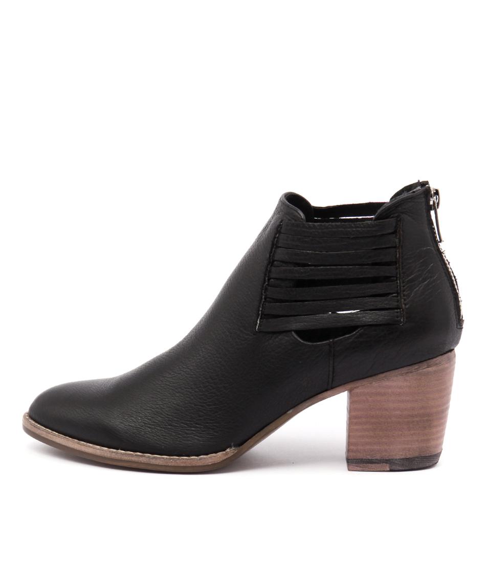 Django & Juliette Breach Black Natural Heel Boots