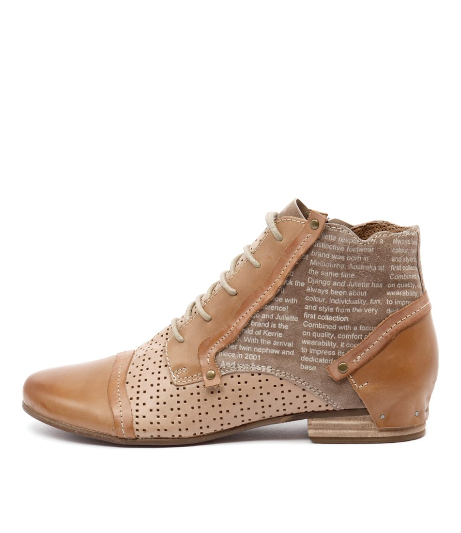 Django & Juliette Dandle Tan Multi Casual Ankle Boots
