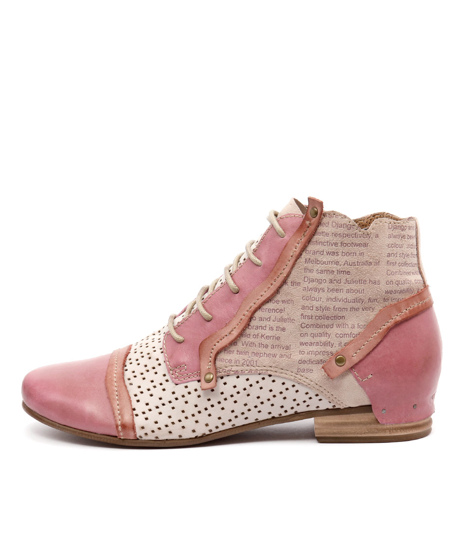 Django & Juliette Dandle Rose Multi Casual Ankle Boots
