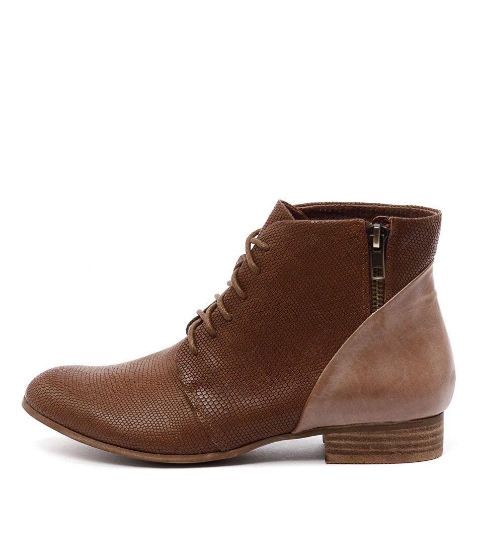 Django & Juliette Fables Tan Mocca Casual Ankle Boots buy  online