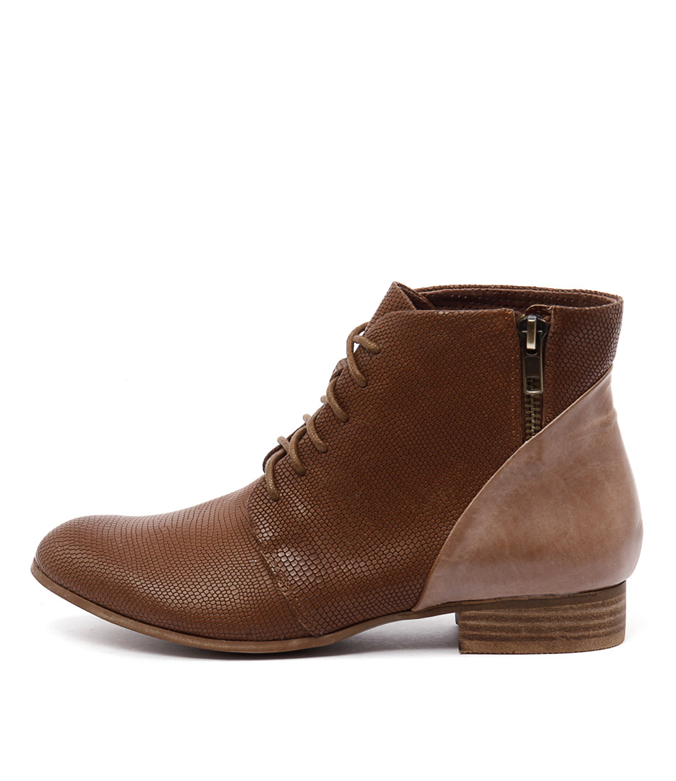 Django & Juliette Fables Tan Mocca Ankle Boots buy  online