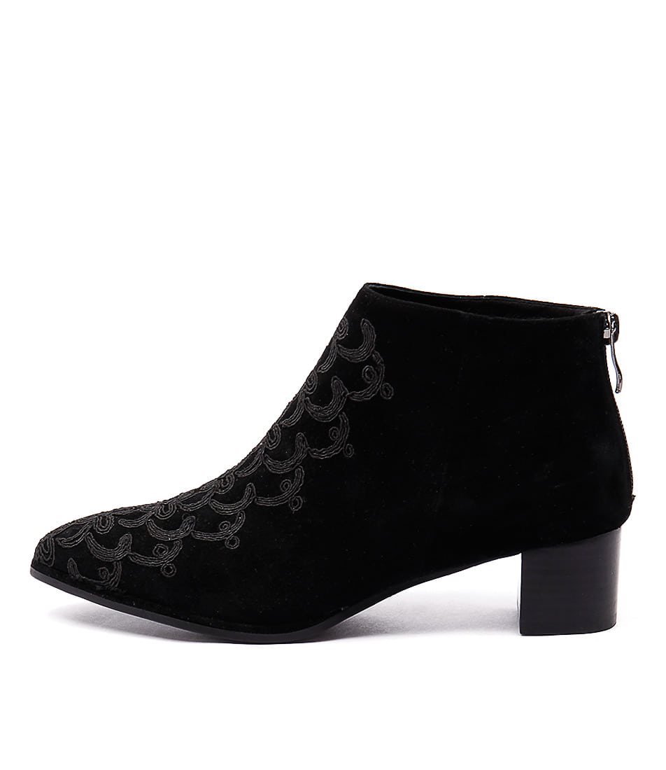 Django & Juliette Jason Black Ankle Boots