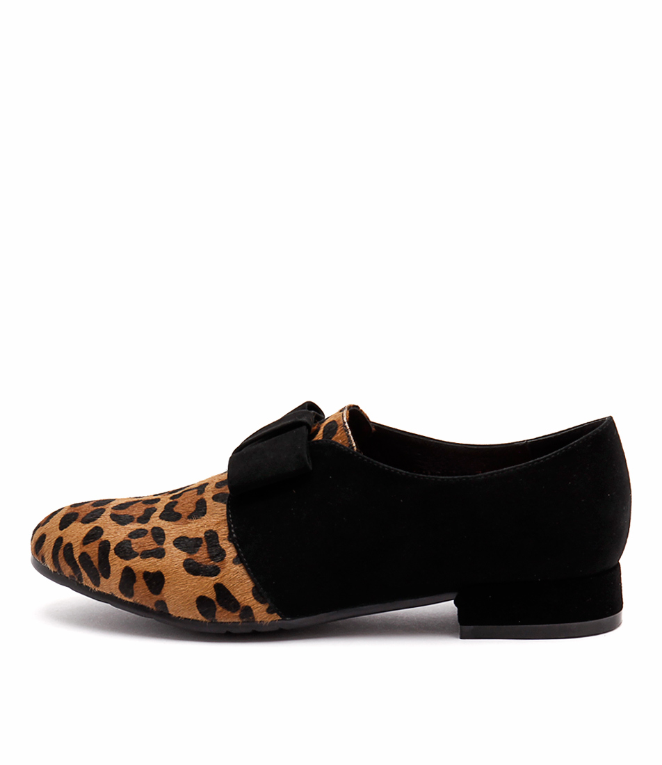 Django & Juliette Kandana Ocelot Black Shoes