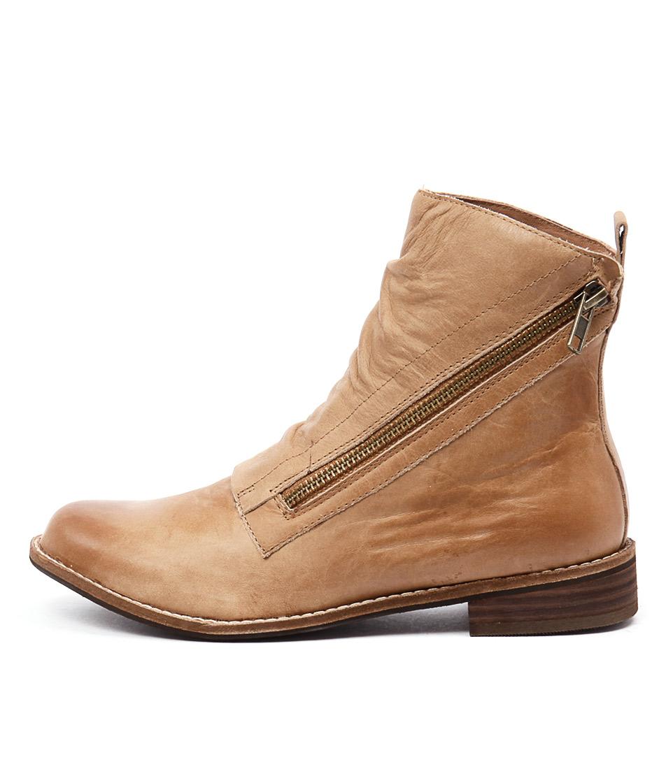 Django & Juliette Julia Tan Ankle Boots
