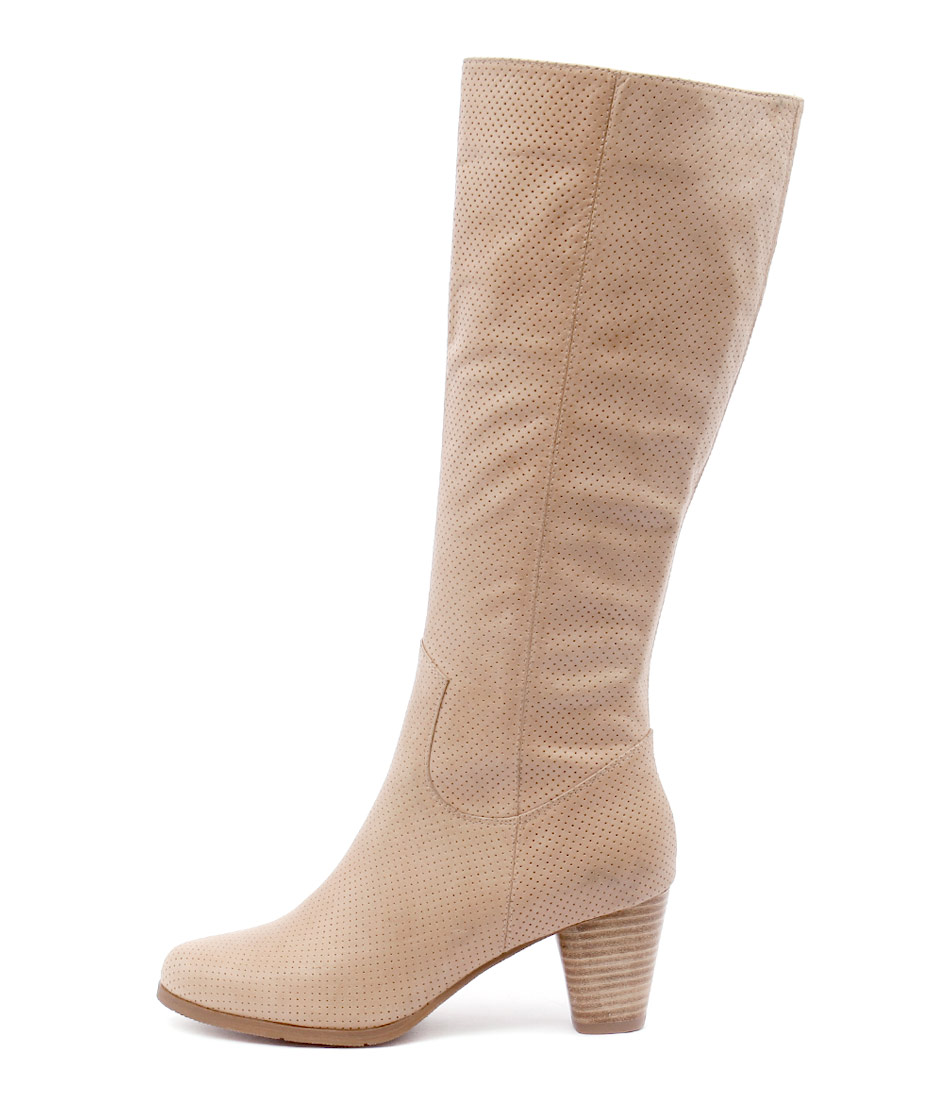 Django & Juliette Klefi Latte Dress Long Boots