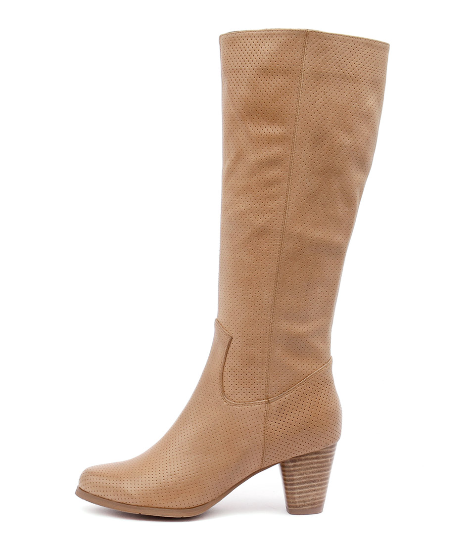 Django & Juliette Klefi Tan Dress Long Boots