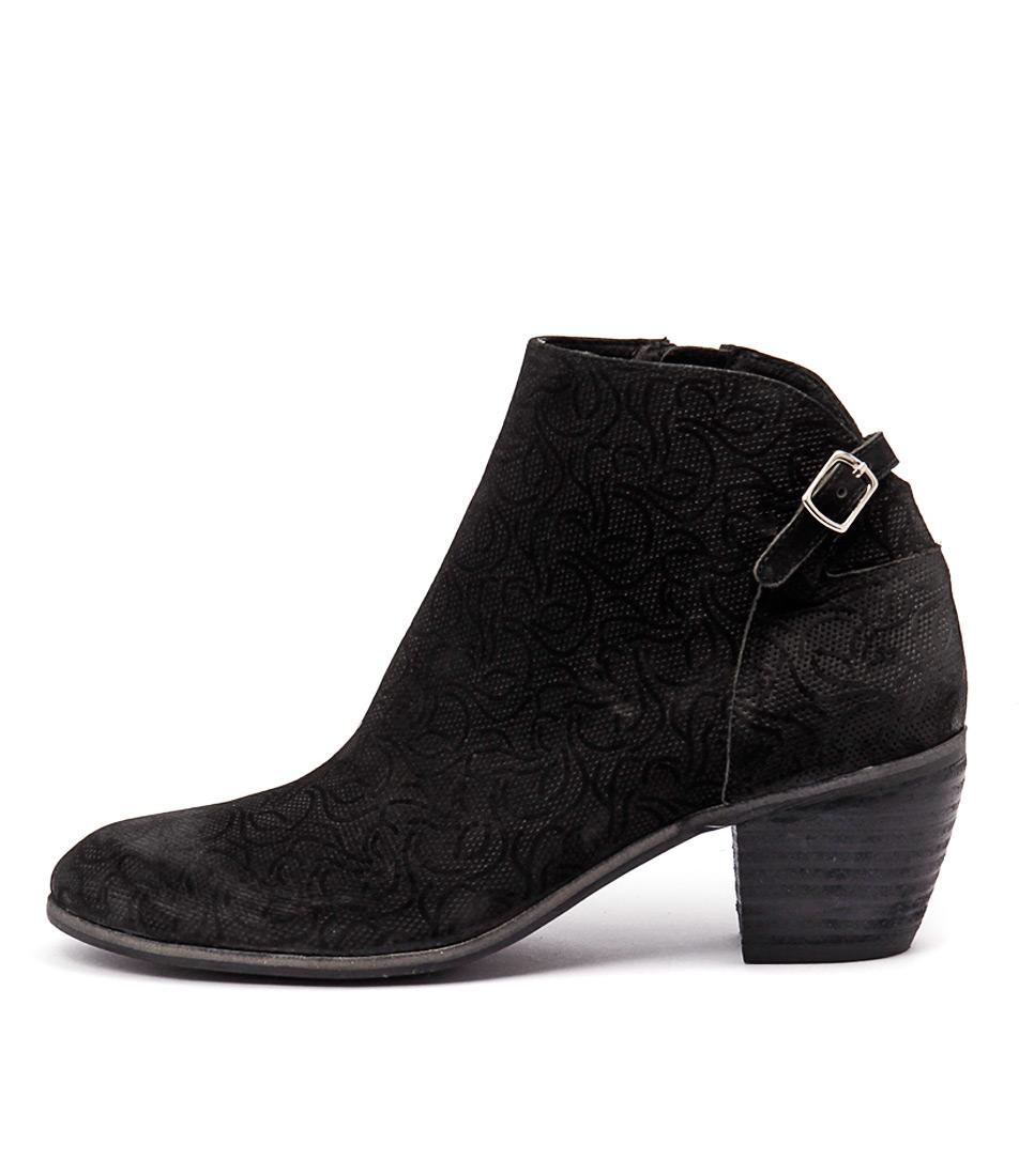 Django & Juliette Marko Black Casual Ankle Boots