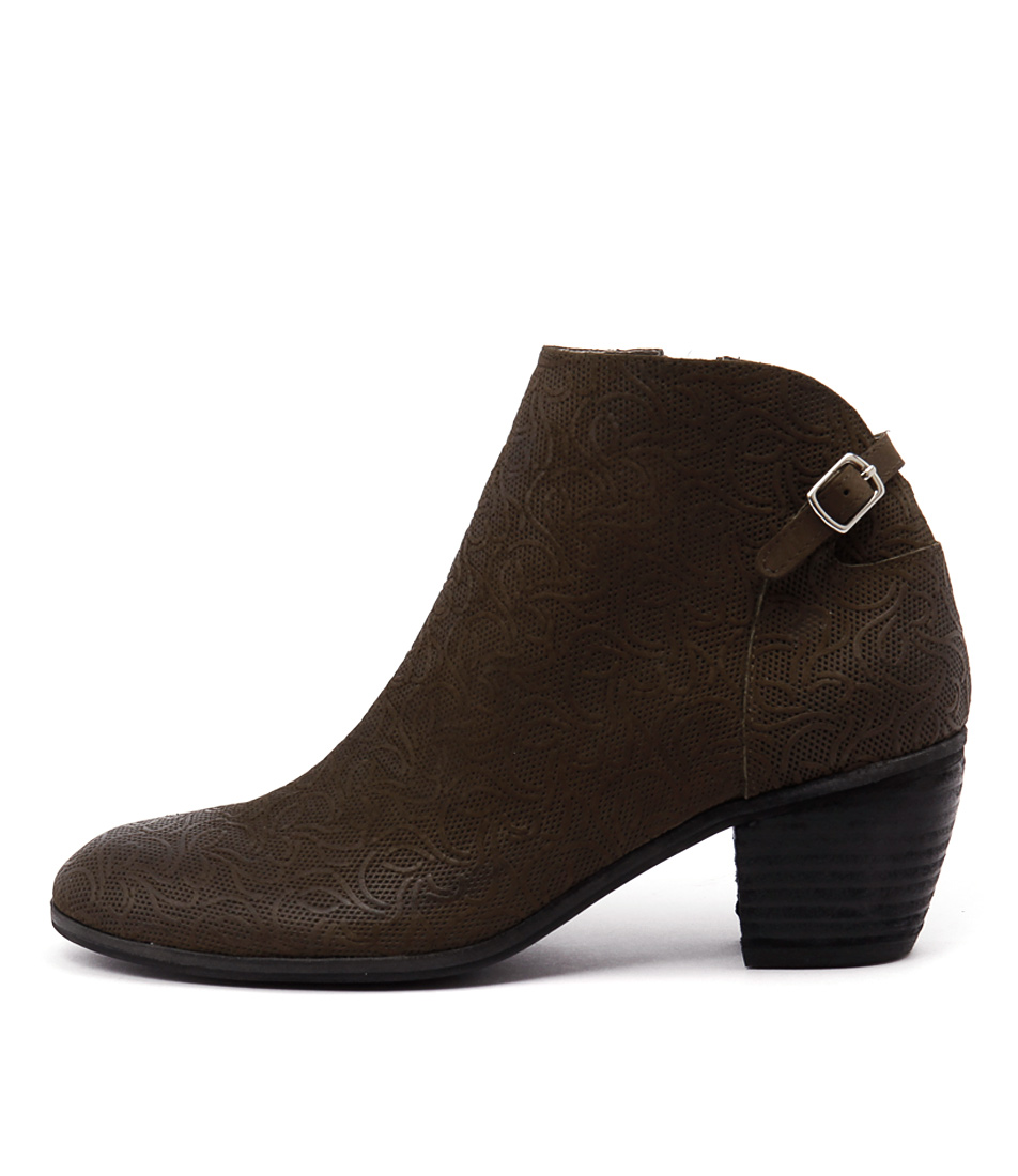 Photo of Django & Juliette Marko Khaki Ankle Boots womens shoes