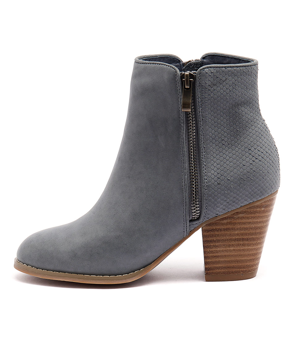 Django & Juliette Roby Navy Casual Ankle Boots