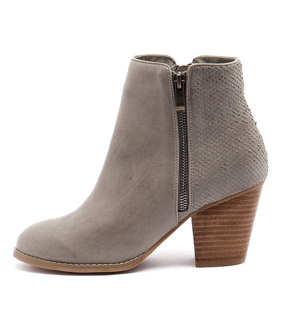 Django & Juliette Roby Charcoal Casual Ankle Boots