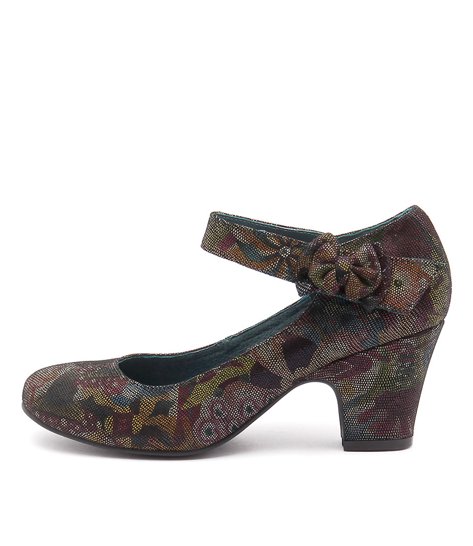 Django & Juliette Splendid Green Floral Shoes