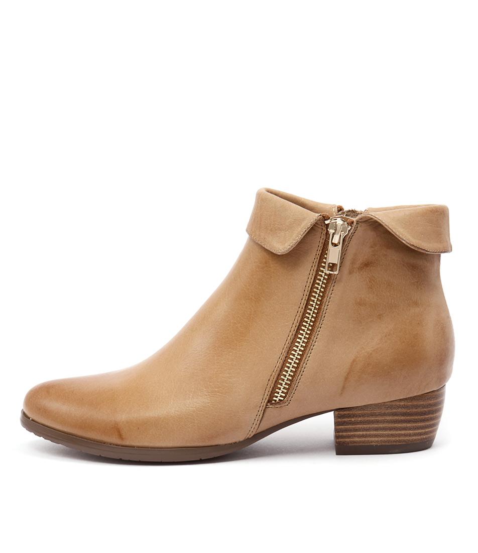 Django & Juliette Twinzip Tan Casual Ankle Boots