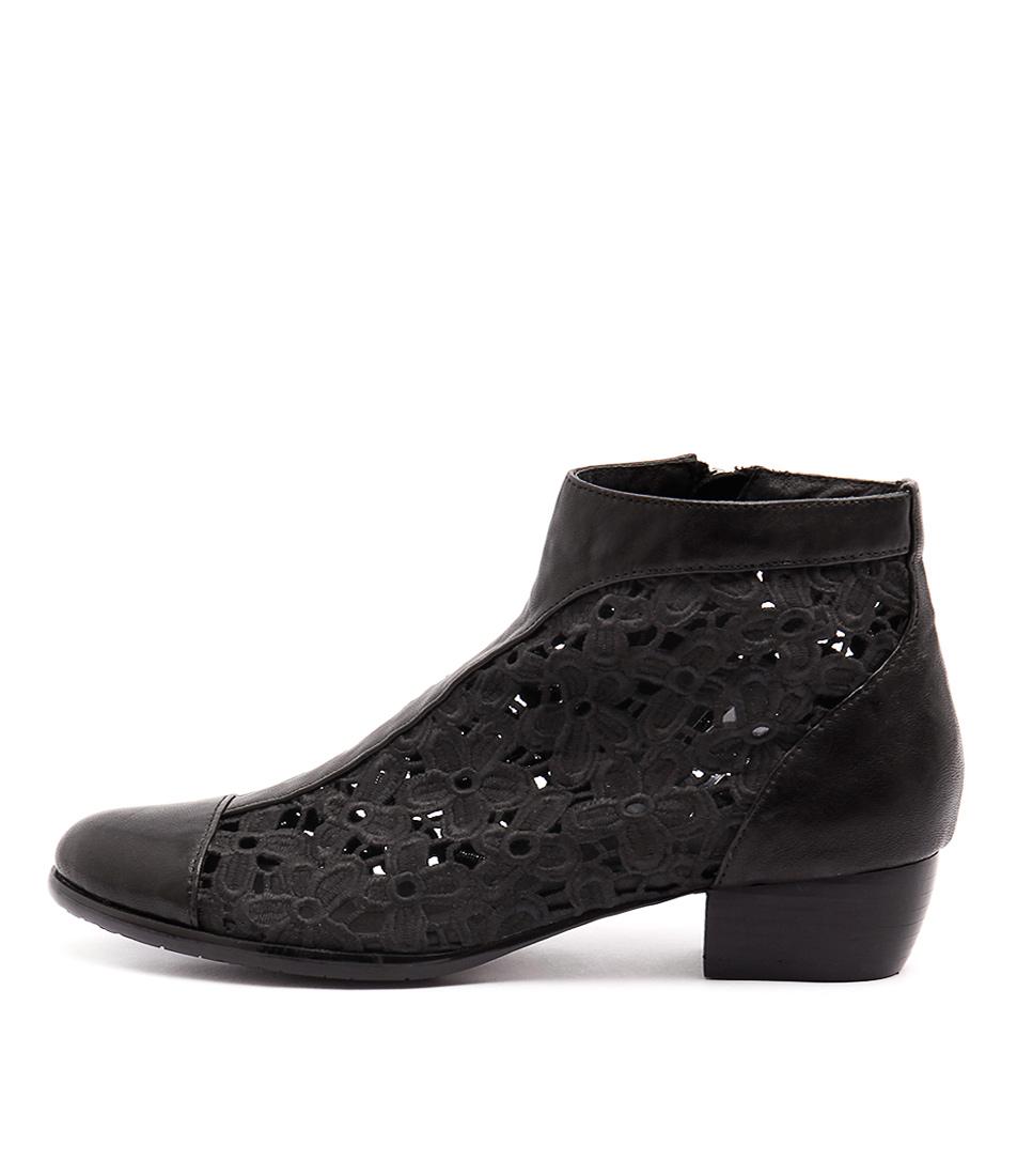 Django & Juliette Trumpar Black Casual Ankle Boots