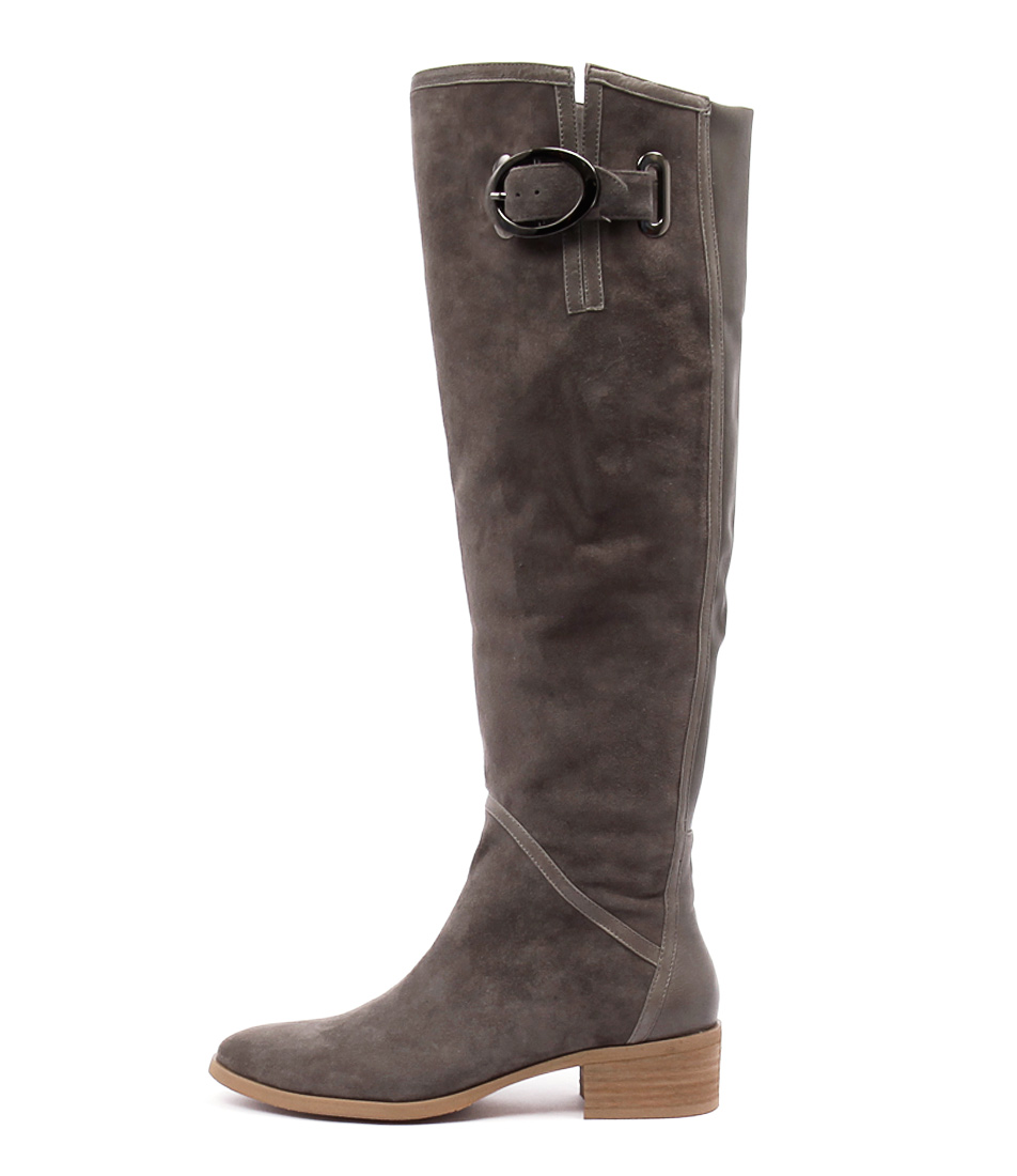 Django & Juliette Tamiladj Charcoal Casual Long Boots