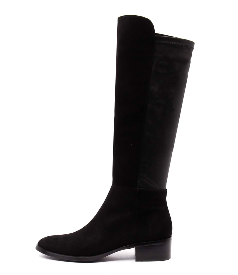 Django & Juliette Tetley Black Casual Long Boots