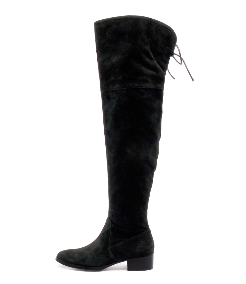 Django & Juliette Tingle Black Long Boots Boots online