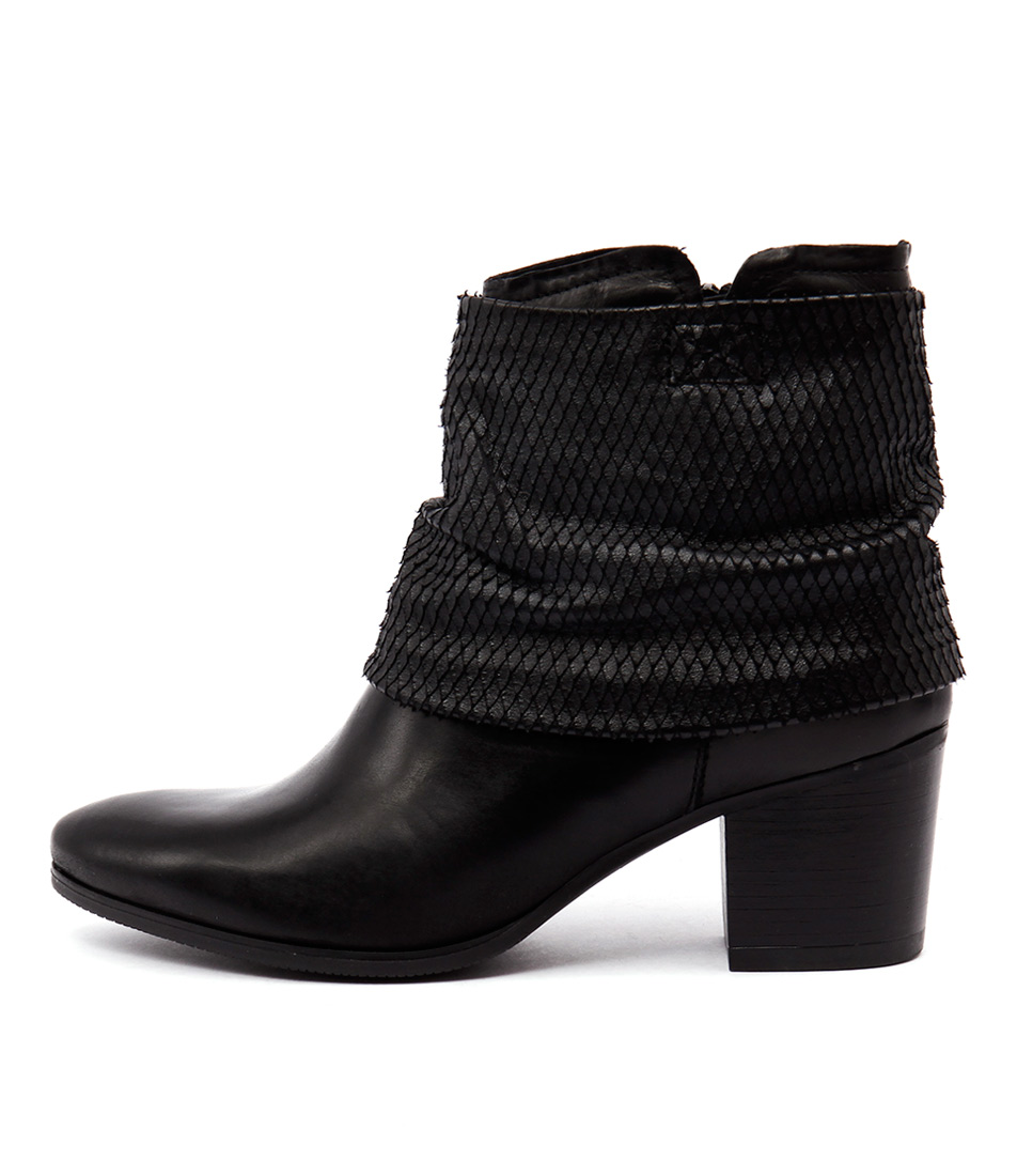 Django & Juliette Bettina O2 A013 Black Ankle Boots