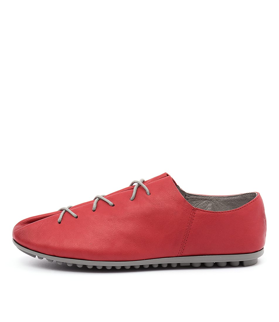 Django & Juliette Barlow Red Flat Shoes