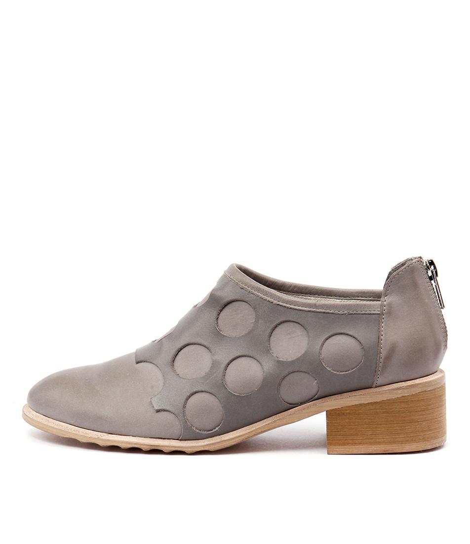Django & Juliette Pictone Grey Dk Grey Ankle Boots