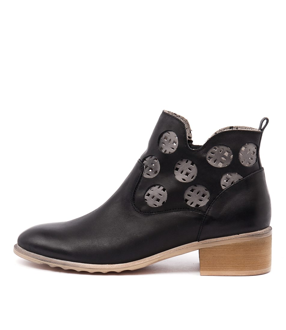 Django & Juliette Piazza Black Grey Boots buy Boots online