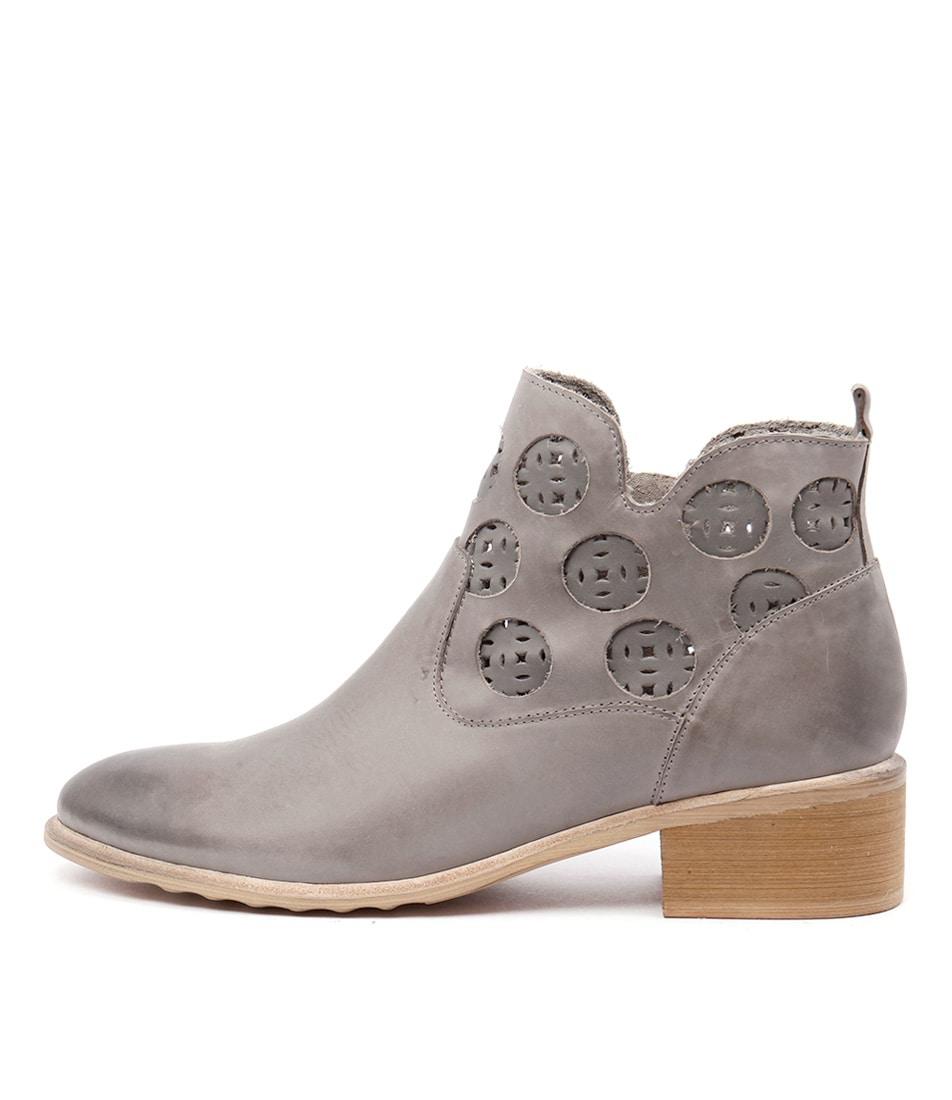 Django & Juliette Piazza Grey Dk Grey Casual Ankle Boots