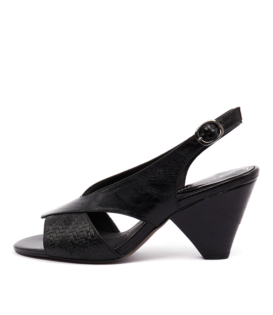 Django & Juliette Xcell Black Casual Heeled Sandals