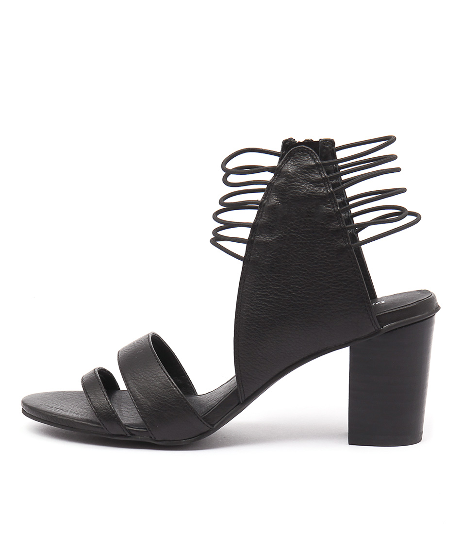 Django & Juliette Ann Black Heeled Sandals