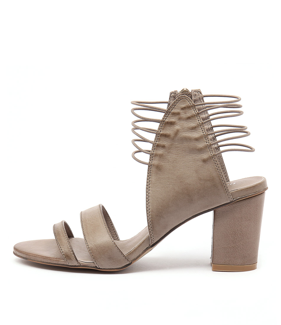 Django & Juliette Ann Taupe Heeled Sandals