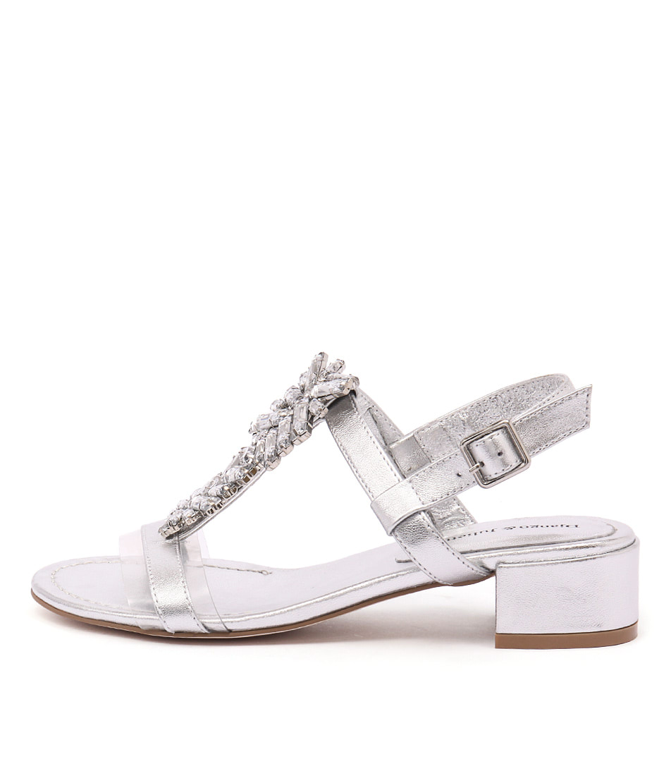 Django & Juliette Blooms Silver Silver Jewels Sandals