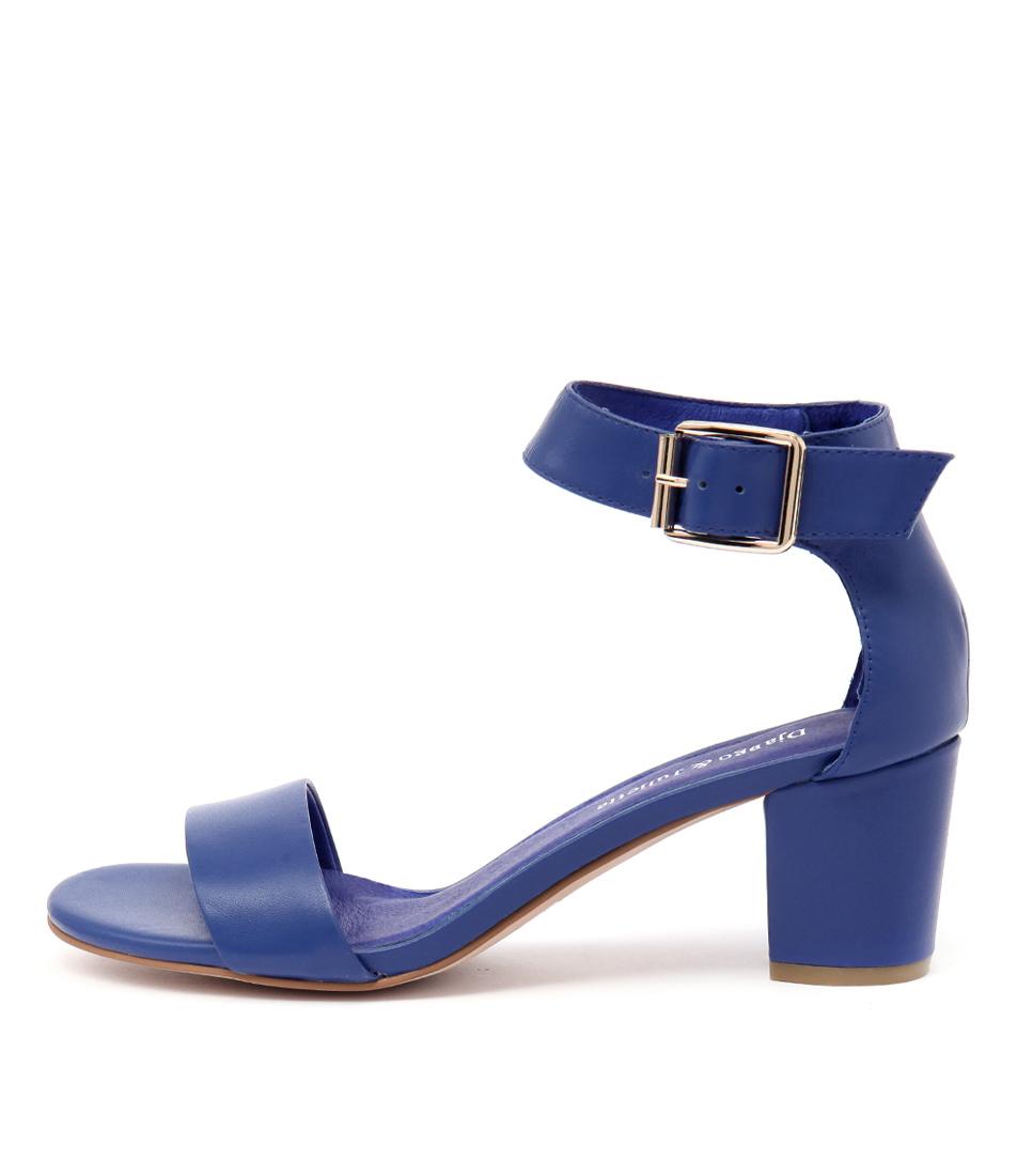 Django & Juliette Cassier Cobalt Casual Heeled Sandals