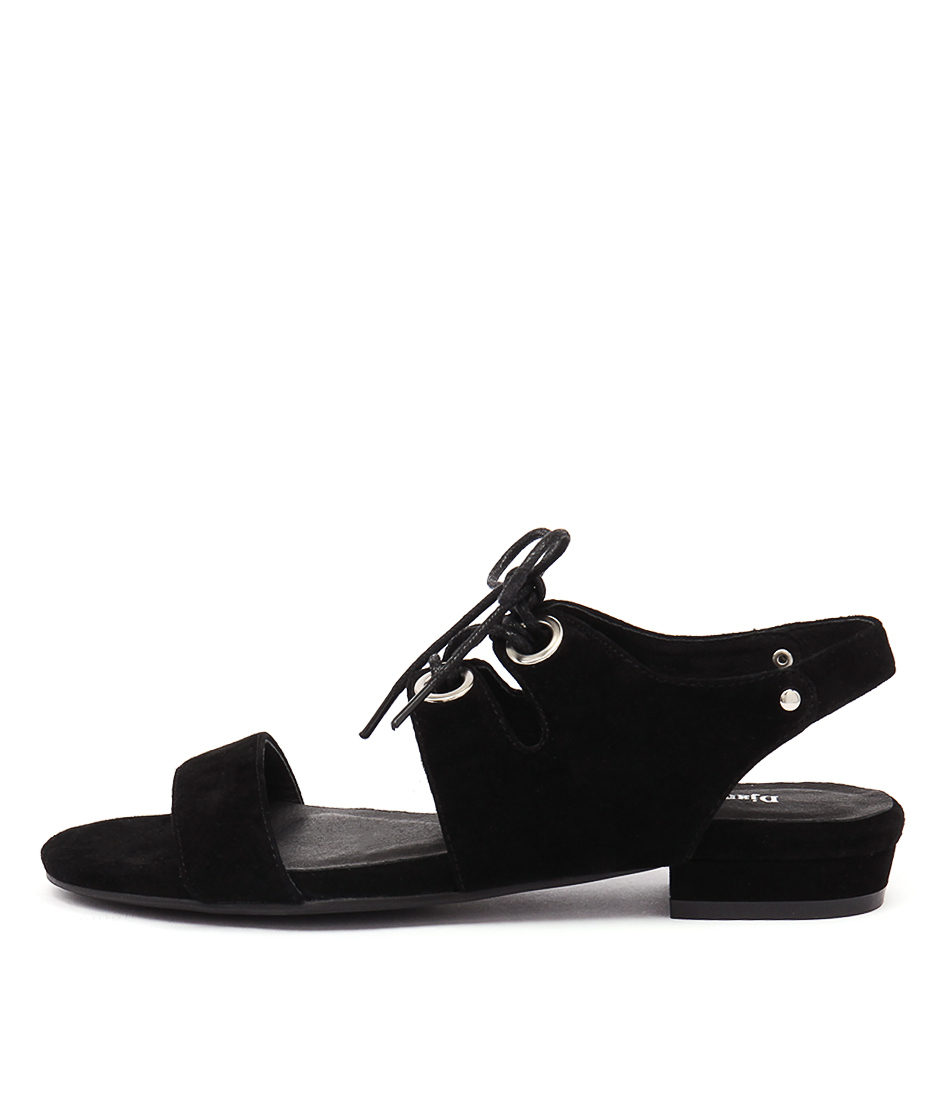 Django & Juliette Donside Black Casual Flat Sandals