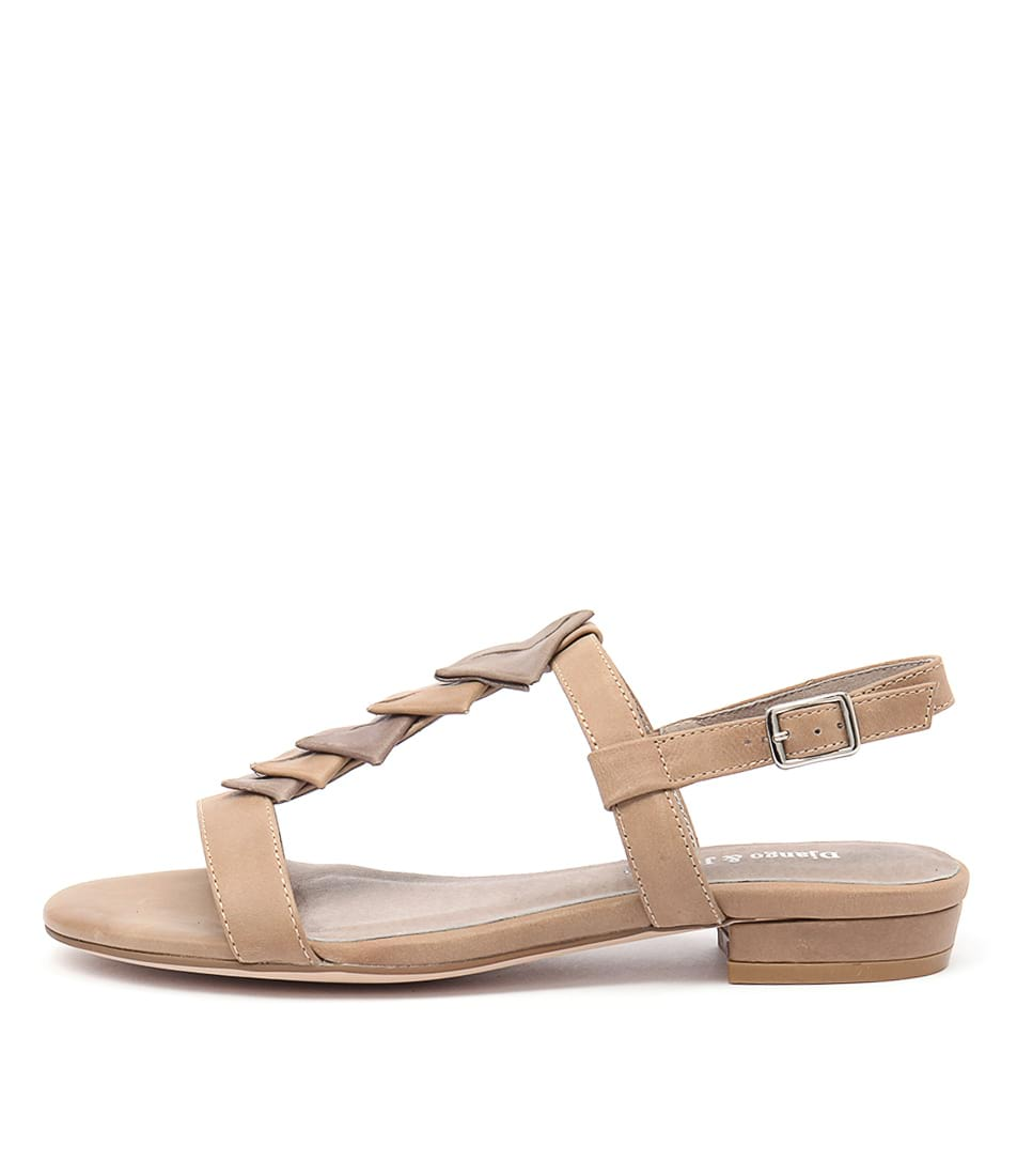 Django & Juliette Doinit Latte Taupe Casual Flat Sandals