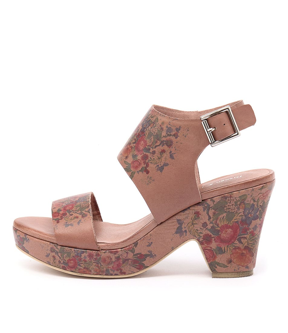 Django & Juliette Ezlam Cafe Flower Heeled Sandals