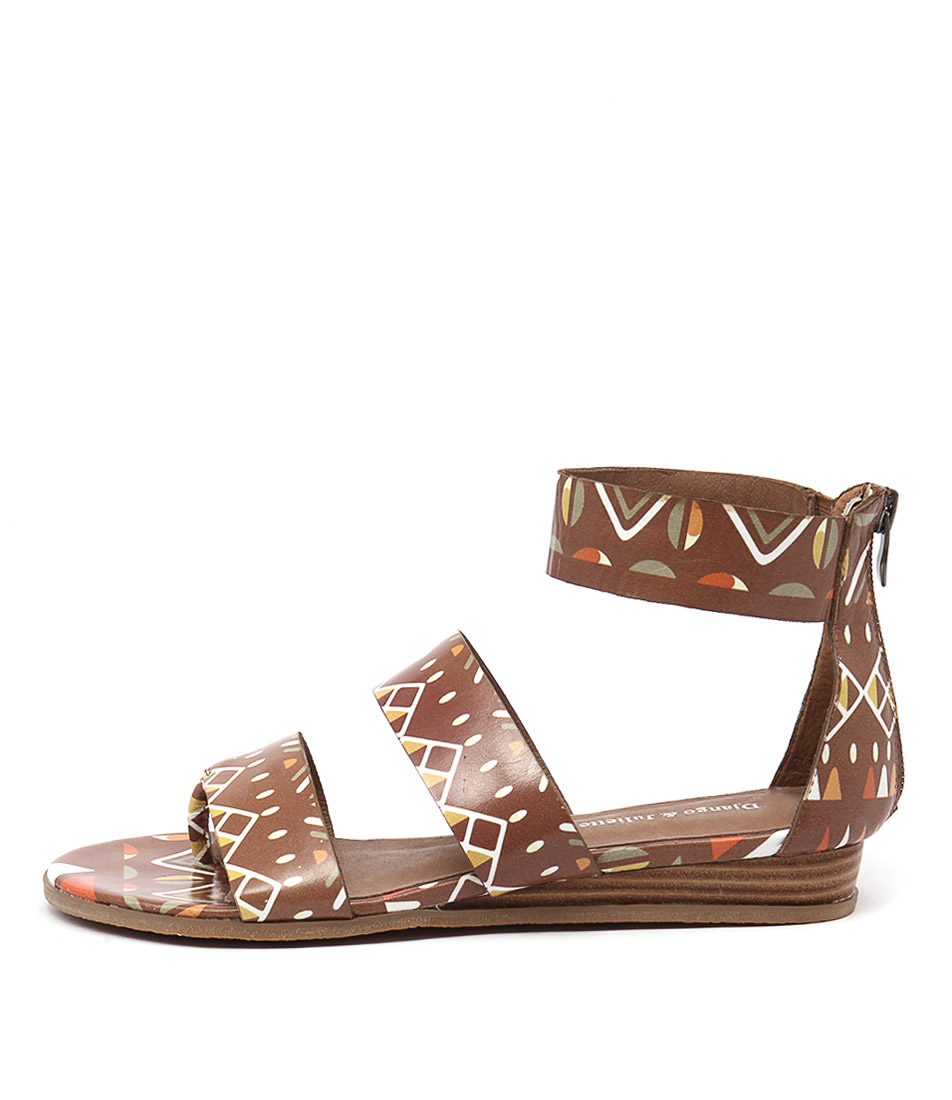 Django & Juliette Heaps Tan TribalFlat Sandals