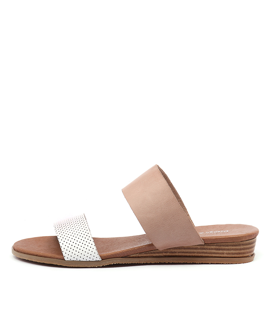 Django & Juliette Hadmy White Nude Sandals
