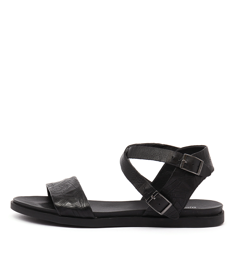 buy Django & Juliette Hoppy Black Sandals shop Django & Juliette Sandals online