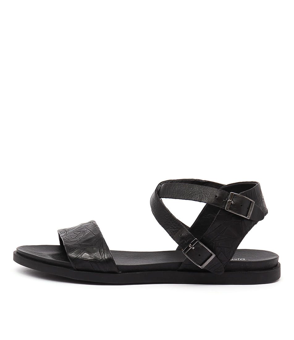 Django & Juliette Hoppy Black Sandals