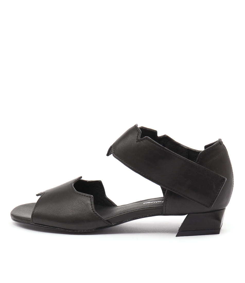 Django & Juliette Helamo Black Dress Heeled Sandals
