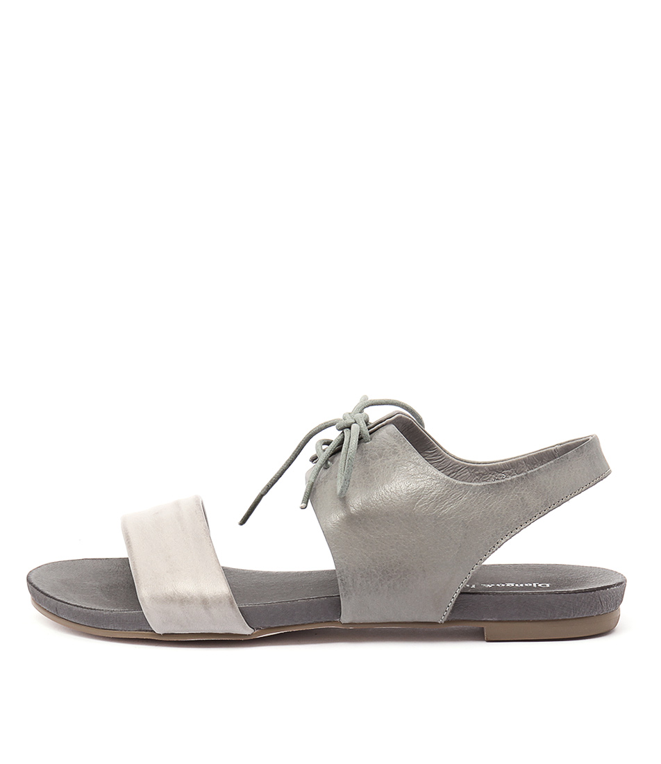 Django & Juliette James Misty Grey Flat Sandals
