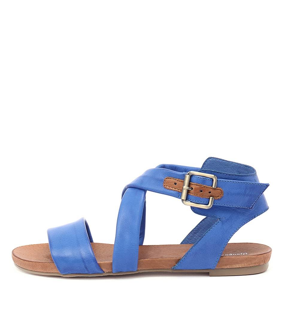 Django & Juliette Jobby Cobalt Casual Flat Sandals