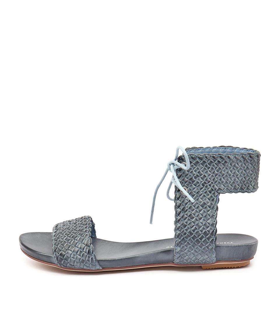 Django & Juliette Glinda Denim Casual Flat Sandals