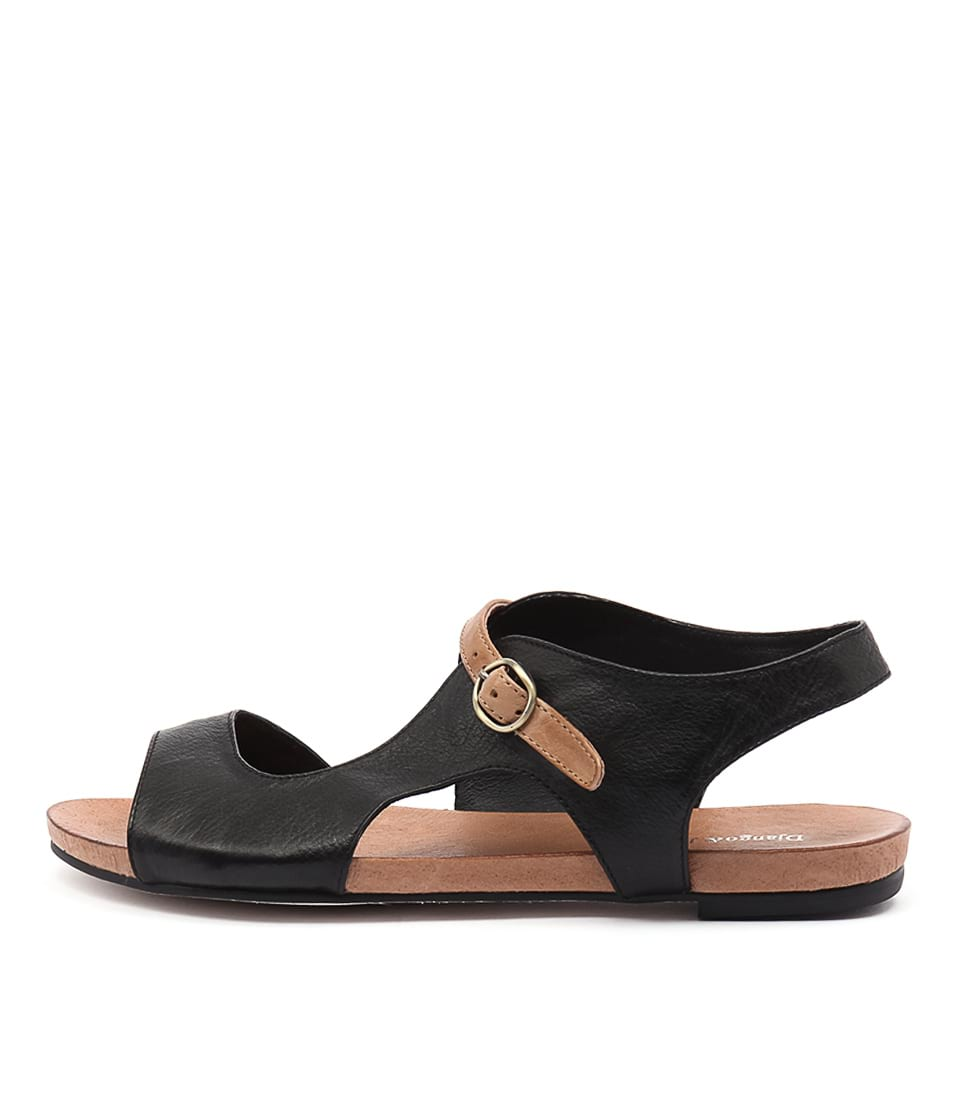 Django & Juliette Jacobi Black Tan Strap Sandals