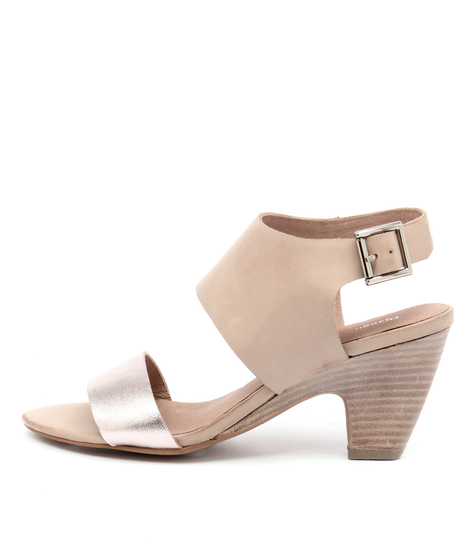 Django & Juliette Kleg Rose Gold Latte Sandals