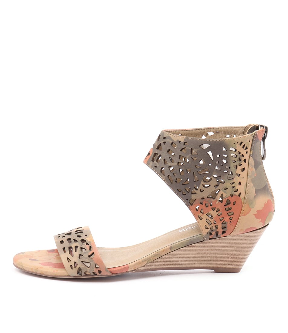 Django & Juliette Marry Camel Multi Dress Heeled Sandals