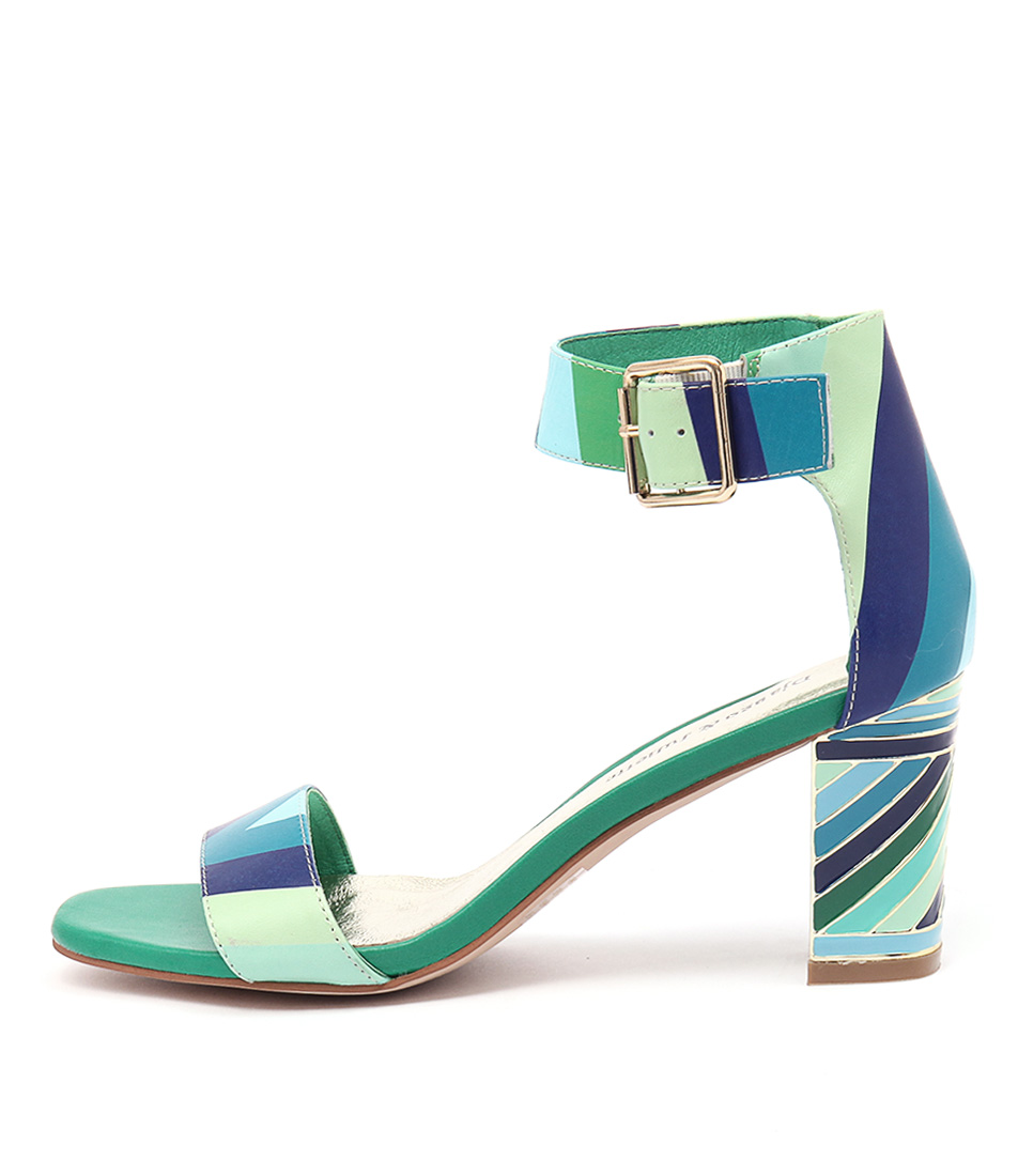 Django & Juliette Nancie Ocean Multi Casual Heeled Sandals