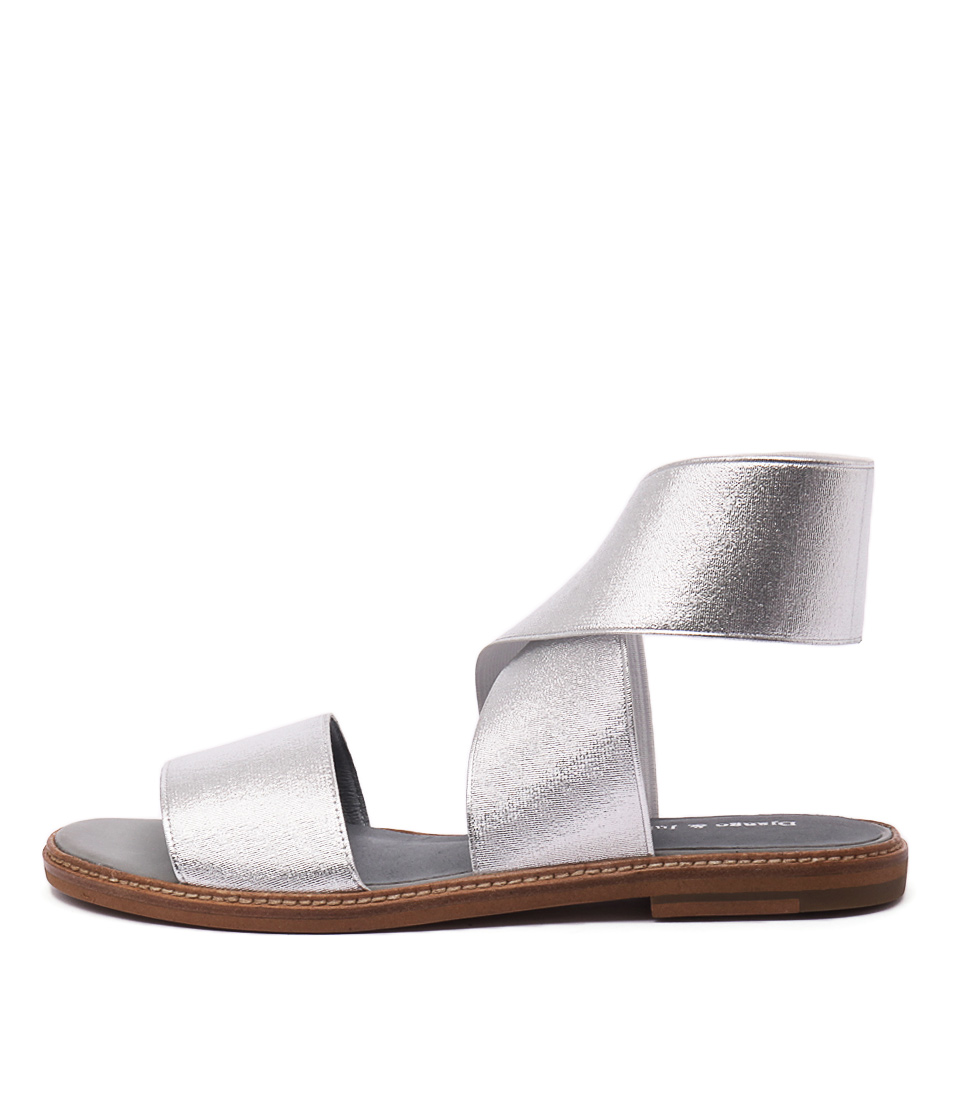 photo of Django & Juliette Narina Silver Casual Flat Sandals online