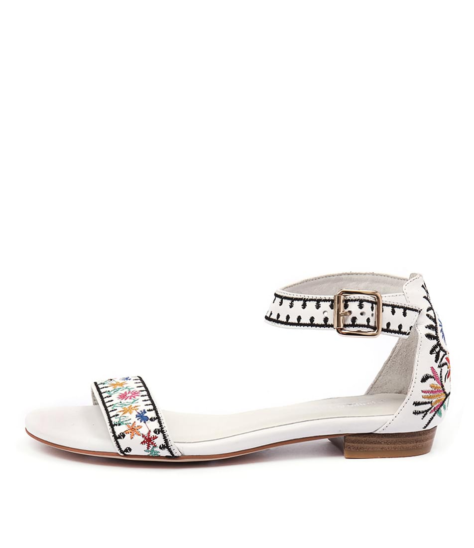 Django & Juliette Onan White Multi Sandals