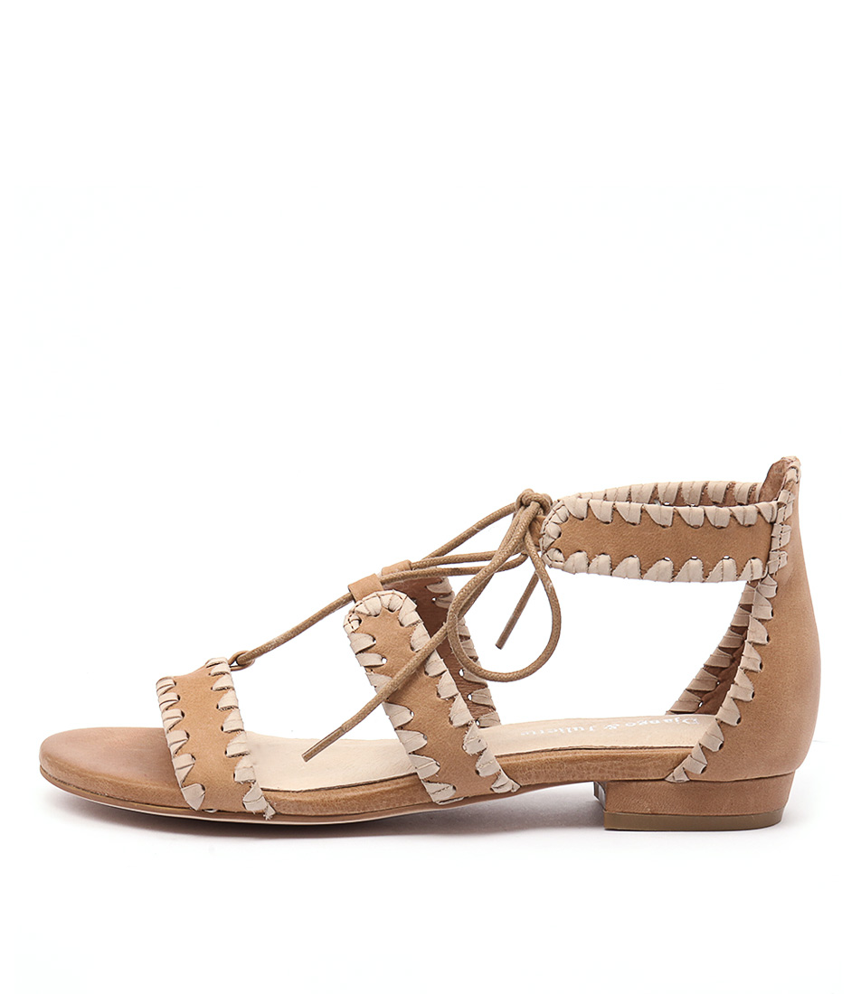 Django & Juliette Ontys Beige Tan Sandals