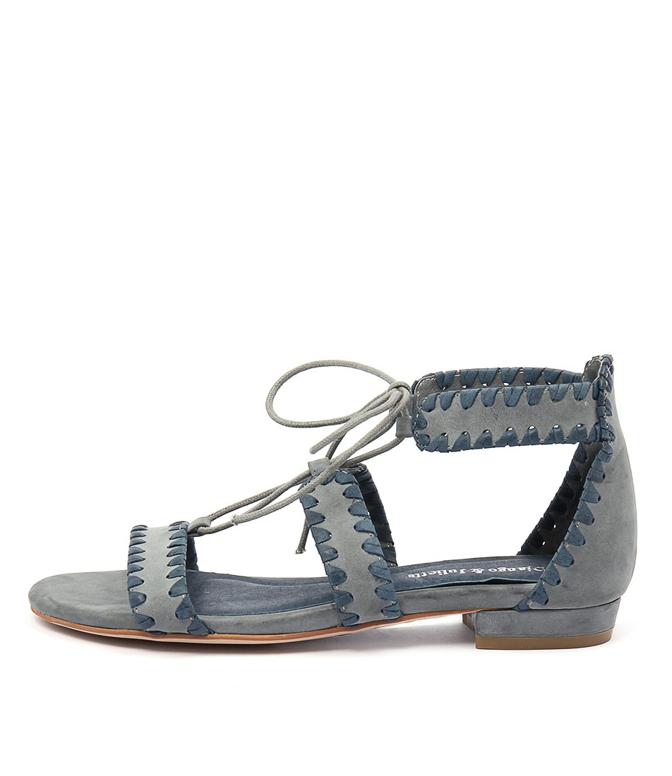 Django & Juliette Ontys Dark Blue Mid Blue Sandals