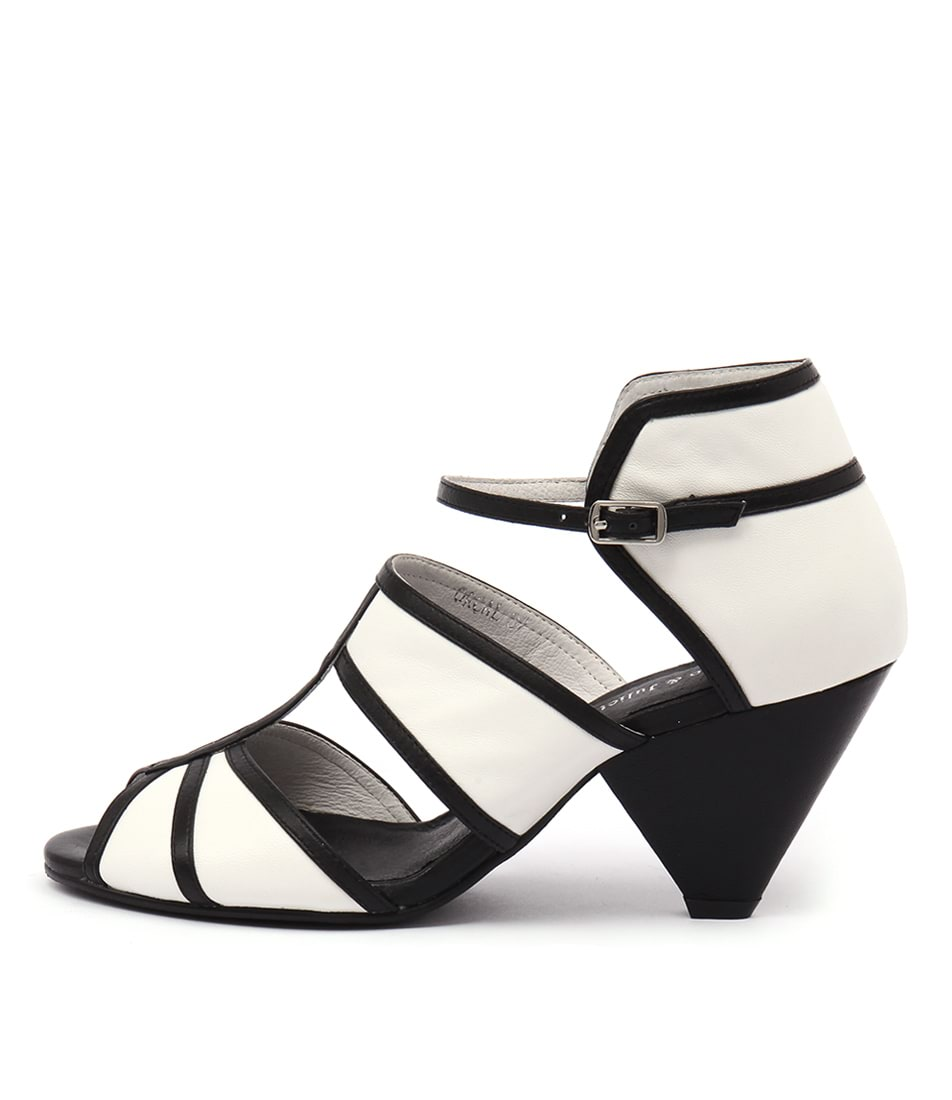 Django & Juliette Orcale Black White Sandals